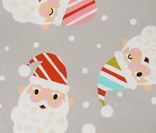 Candy Cane Kringle Santa Face Alexander Henry Cotton Quilt Fabric 8752 B Stone