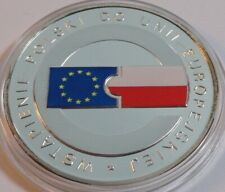 10 ZL ZLOTYCH POLAND POLEN 2004 POLAND JOINING THE EU SILVER COLORED COIN