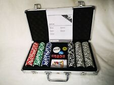 More details for poker chip set - heavyweight 2 tone dice style
