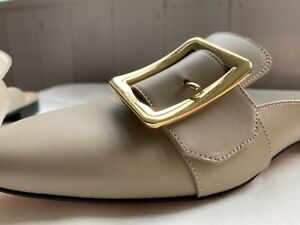 BALLY Leather Mule Slippers