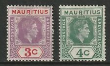Mauritius: 1938. SG253/54, 3c to 4c Definitives. MM. As photo.