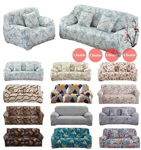 1/2/3/4 Seater Floral Elastic Settee Stretch Protector Sofa Covers Slipcover