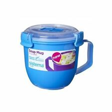 Sistema Microwave Soup Mug Klip It 565ml Work School College Lunch Snack 21142