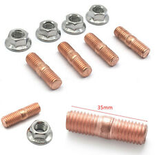 4 Sets M10 X 1.5 Turbo Stud Screw Flange Nuts For T3 T4 T5 T6 Car Turbocharger