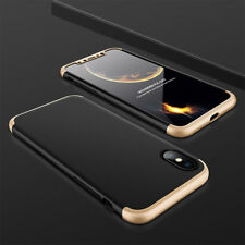 Shockproof Hybrid Hard Armor Case Slim Thin 360° Phone Cover for Apple iPhone X