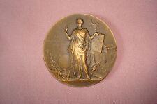 French Art Nouveau Solid Bronze medal By Alphee Dubois Public School Course