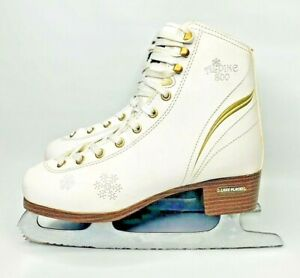 Womens LAKE PLACID ALPINE 800 Ice Skates Roller Derby Snowflakes ISLP304 Size 6