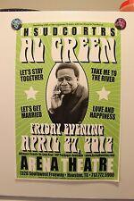 AL GREEN Houston TX 2012 Original CONCERT POSTER soul gospel