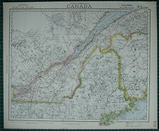 1883 Letts Map ~ Canada Eastern Quebec Maine New Brunswick