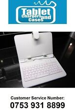 "White Ainol Novo 7 Paladin 7"" Tablet PC Android USB Keyboard Leather Case Stand"