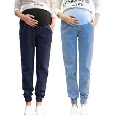 Comfort Maternity Loose Denim Pregnancy Pants Jeggings Motherhood Belly Cover TR