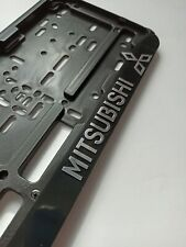 "Black ""Mitsubishi""EURO LICENSE PLATE TAG HOLDER MOUNT ADAPTER BUMPER FRAME"