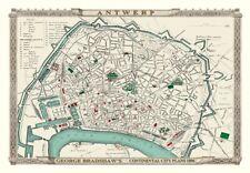 George Bradshaw'S CONTINENTAL Piano della città di Anversa 1896 - 1000 Pezzo Puzzle