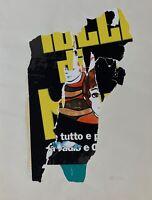 Rotella Mimmo sérigraphie originale signée nouveau réalisme pop art Milan