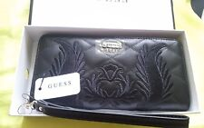 """GUESS """"Alessia"""" embroidered Wallet from the Jennifer Lopez Collection black"""