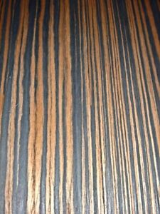 "Macassar Ebony composite wood veneer 24"" x 96"" on paper backer 1/40"" thick #603"