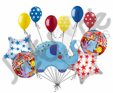11pc Circus Elephant Balloon Bouquet Happy Birthday Decoration Carnival Animal