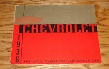 Original 1936 Chevrolet Master De Luxe Standard Full Line Deluxe Sales Brochure
