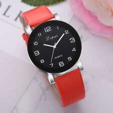 1pc Womens Leather Band Alloy Case Quartz Watch Sports Business Wrist Watches