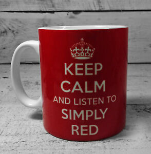 NEW KEEP CALM AND LISTEN TO SIMPLY RED GIFTS MUG CUP PRESENT MICK HUCKNALL FAN