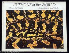 Pythons of the World Volume 1 Australia Snakes Herpetology David Barker 1994