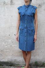 POP 84 RARA vestiti da donna blu vintage 80s Cotone Denim Jeans S MADE IN ITALY