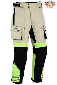 Australian Bikers Gear Infinity HiViz Waterproof Thermal Motorcycle TROUSER CE