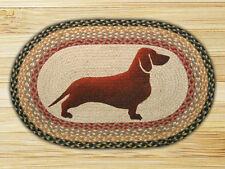 "DACHSHUND Wiener Dog 100% Natural Braided Jute Rug 20"" x 30"", Capitol Earth Rugs"