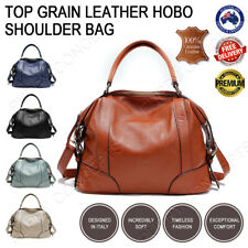 100% Genuine Top Grain Soft Cow Leather Handbag Shoulder Hobo Bag Satchel Tote