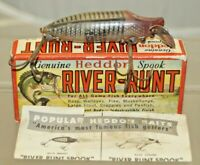 Vintage 1940s Heddon River Runt Spook FLOATER Crankbait Fishing Lure W/ Box