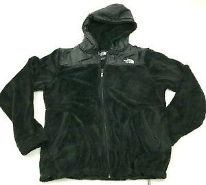 The North Face Sweater Jacket Women Size Medium M Black Full Zip Fleece Hoodie