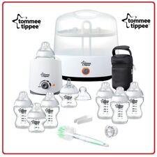 ❤ Tommee Tippee Closer to Nature Essentials Steriliser Starter Kit Extra Bottles