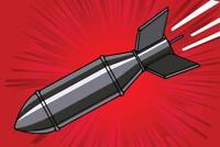 Atomic Bomb Cartoon Art Print Mural Poster 36x54 inch