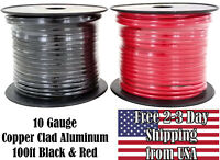 10 Gauge Red & Black Copper Clad 12V Automotive Trailer Hookup Auto Primary Wire