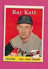 1958 TOPPS # 284 GIANTS RAY KATT  EX-MT CARD (INV# C3991)