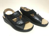 Franken Schuhe Damen Sandale mit herausnehmbarem Fußbett Komplett Leder (4010)