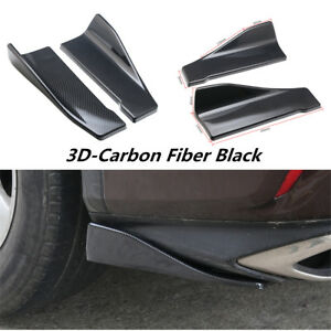 Shark Chin Spoiler Lip Diffuser Trim Carbon Fiber For Car Rear Bumper Body Kit