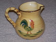 LARGE FARM/COUNTRY 3 QT PITCHER, HAND PAINTED, COLORFUL, JC PENNYS HOME