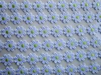 2 METER GPO Spitze Blumen 2,5cm Weiß Grün breit Elegante Nichtelastisch