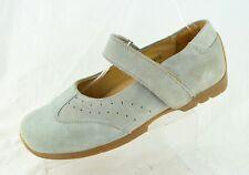 Birkenstock Footprints Light Blue Grey Suede Mary Jane Shoes Womens 8 8.5 39