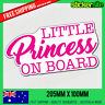 LITTLE PRINCESS ON BOARD Sticker - Princess Baby on Board - Car Window Sticker