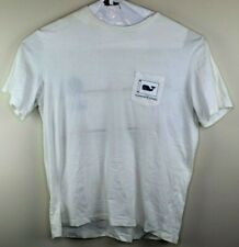 Vineyard Vines Large Whales Shark Fish Pocket 100% Cotton T Shirt Men's L