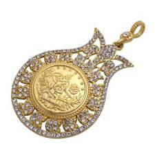 Pendants Hot Sale Arab Coin Turkey Coins Ottoman Stainless Steel Pendant Necklace Islam Muslim Jewelry