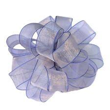 Sheer Organza Ribbon Blue Edge Diy Wedding Birthday Party Handcraft Material