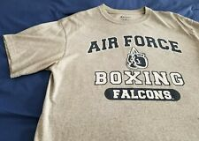 Air Force Academy Boxing Fightin Falcons Military Gray T-Shirt Used