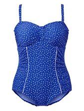 Costume da bagno COSTUMONE nuoto Costumi Da Bagno Nero Bianco Coppa D Tg 44 46 48 50 52 54 56