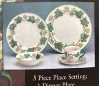 Franciscan Ivy China Dinnerware 5 Piece Place Setting 6042905 Made In England