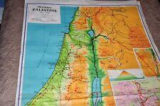 "Original Vintage Map ""MODERN PALESTINE"" copyright 1970 George Philip & Son"