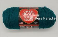 Red Heart Super Saver Yarn, Color- REAL TEAL, Four Ply, Acrylic. One Skein