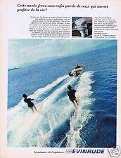 Publicité Advertising 026 1967 Evinrude moteurs de bateaux ski nautique